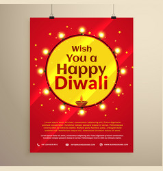 Amazing diwali festival flyer template vector