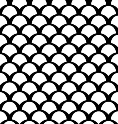 Black and white squamous pattern vector