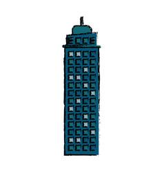 building real estate facade icon vector image vector image