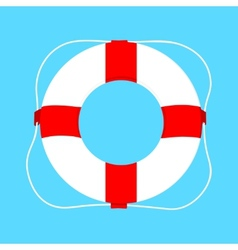 buoy isolated on blue vector image