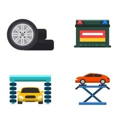 Car service repair icons set vector image vector image