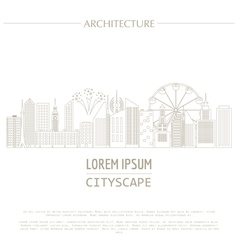 Cityscape graphic template Modern city vector image