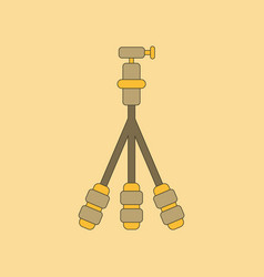 Flat icon on background tripod vector