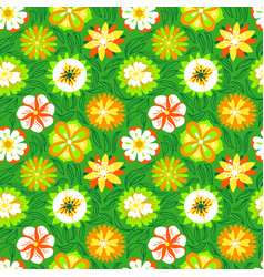 Floral seamless pattern background with abstract vector