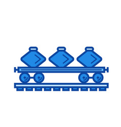 freight train line icon vector image