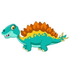 funny stegosaurus cartoon vector image