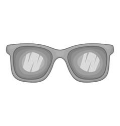 Glasses icon gray monochrome style vector