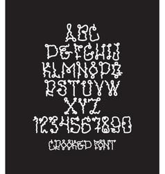 Graffiti bold font vector
