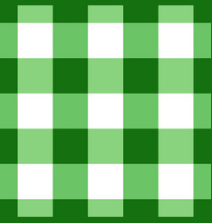 Green and white gingham tablecloth seamless patter vector