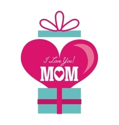 happy mothers day card design vector image vector image