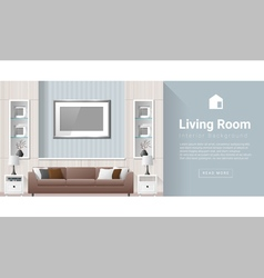 Interior design Modern living room background 2 vector image vector image
