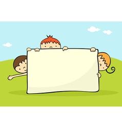 Kids banner vector