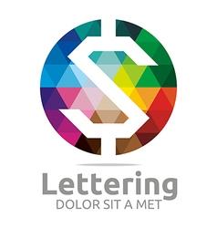 Lettering z rainbow alphabet design vector