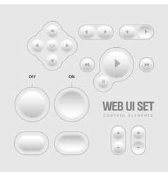 Light Web UI Elements Design vector image vector image
