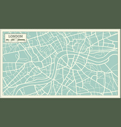 London map in retro style vector