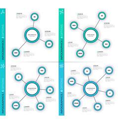 minimalistic creative 3-6 infographic charts vector image vector image