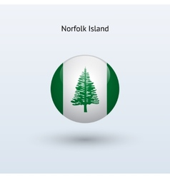 Norfolk Island round flag vector image vector image