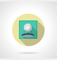 Play golf flat round icon vector