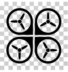 quadrotor icon vector image vector image