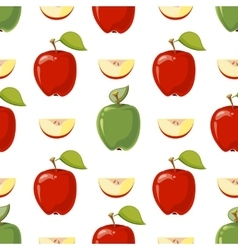 Red and green apples seamless pattern vector image vector image