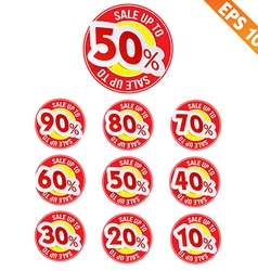 Sale sticker tag - - EPS10 vector image vector image