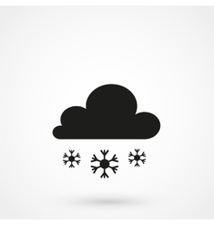 Snow clouds icon vector