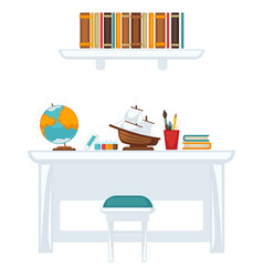 Table with equipment for education vector