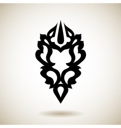 Tribal reflected black tattoo vector image