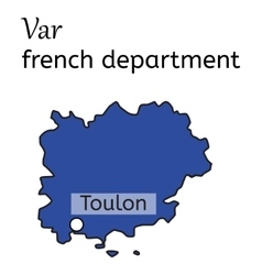 Var french department map vector