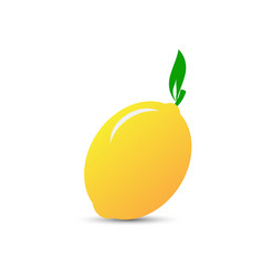 yellow lemon icon vector image vector image