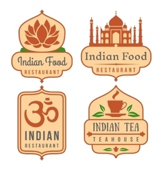 Indian food logo set vector
