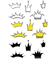 different crowns vector image