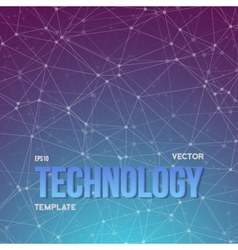 Wireframe technology background vector
