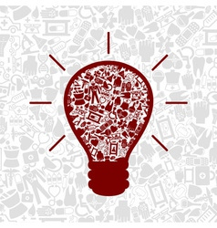 Medicine a bulb vector image