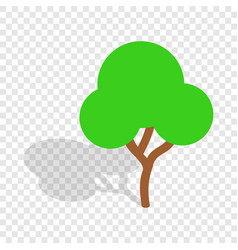 Tree isometric icon vector