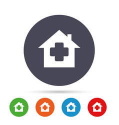 Medical hospital sign icon home medicine symbol vector