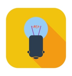Bulb single icon vector image