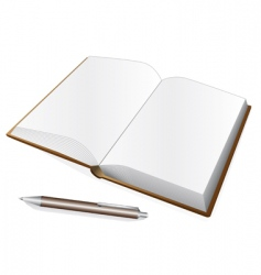 notebook and pen vector image