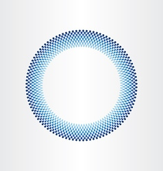 drops of water in circle rain blue background vector image