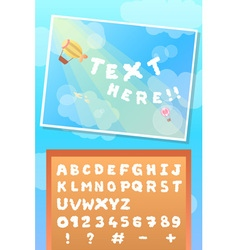 Edible fluffy text cloud font and balloon on vector