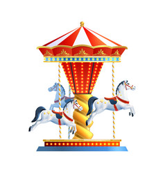 Realistic carousel isolated vector