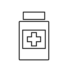 Medical line icon vector