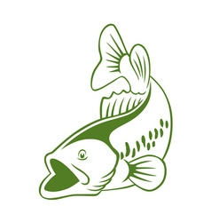 Fish perch vector