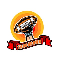 Touchdown badge comic style vector