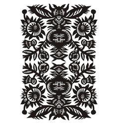 Wood cut floral pattern vector