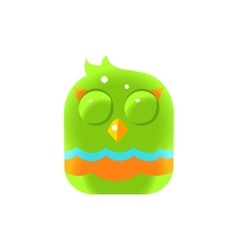 Green Sleeping Chick Square Icon vector image