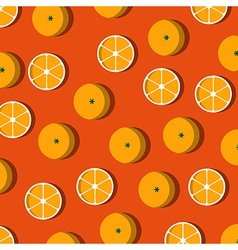 Cut oranges on table pattern vector