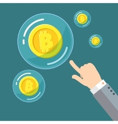 Concept of digital currency vector