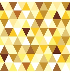 Abstract gold seamless triangle pattern vector