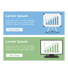 Banners with graphs vector